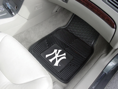 New York Yankees MLB Baseball Logo Car Floor Mats - Heavy-Duty Vinyl