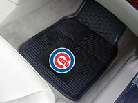 Chicago Cubs MLB Logo Vinyl Car Mats - 2 Piece Set FM-8782