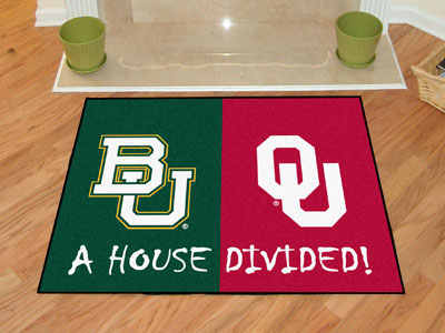 Officially Licensed NCAA Logo House Divided Rugs