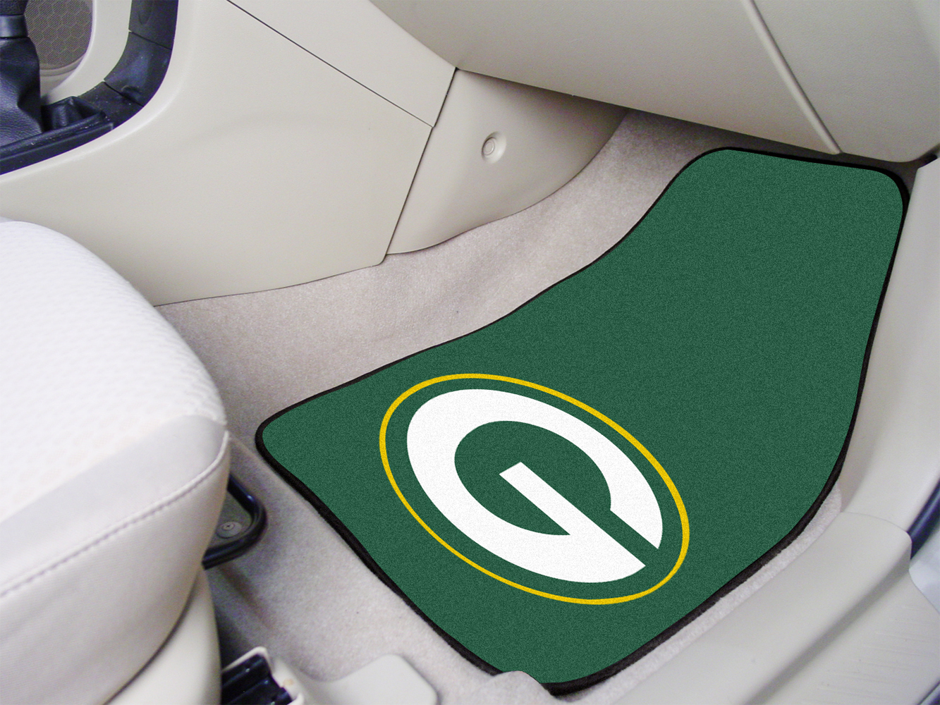 green car floor mats.  Car Green Bay Packers NFL Logo Carpet Car Mats  2 Piece Set On Floor T