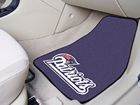 New England Patriots NFL Logo Carpet Car Mats - 2 Piece Set FM-5797
