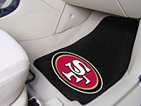 San Francisco 49ers NFL Logo Carpet Car Mats - 2 Piece Set FM-5833