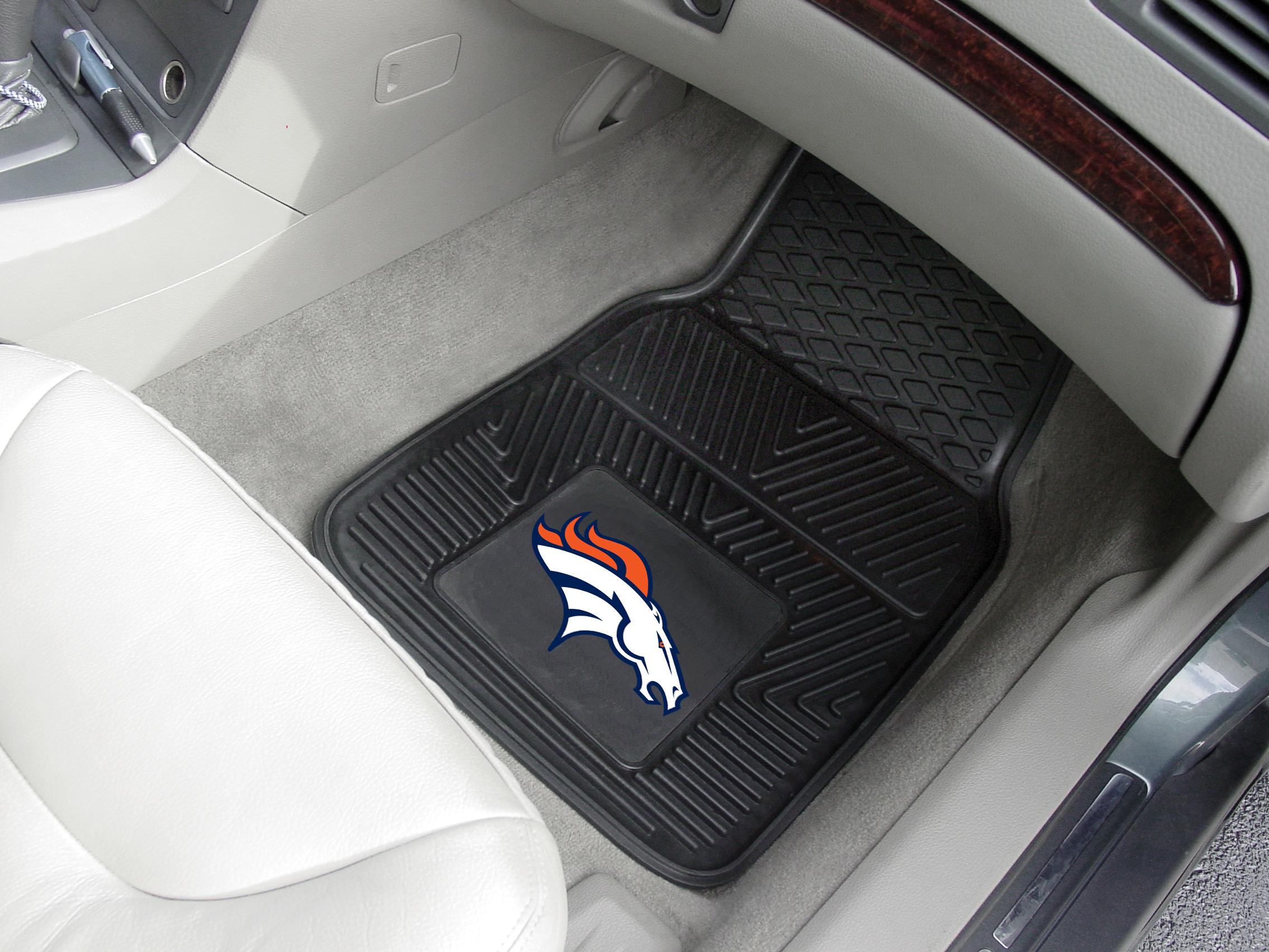 Rubber floor mats denver - Denver Broncos Nfl Football Logo Car Floor Mats Heavy Duty Vinyl