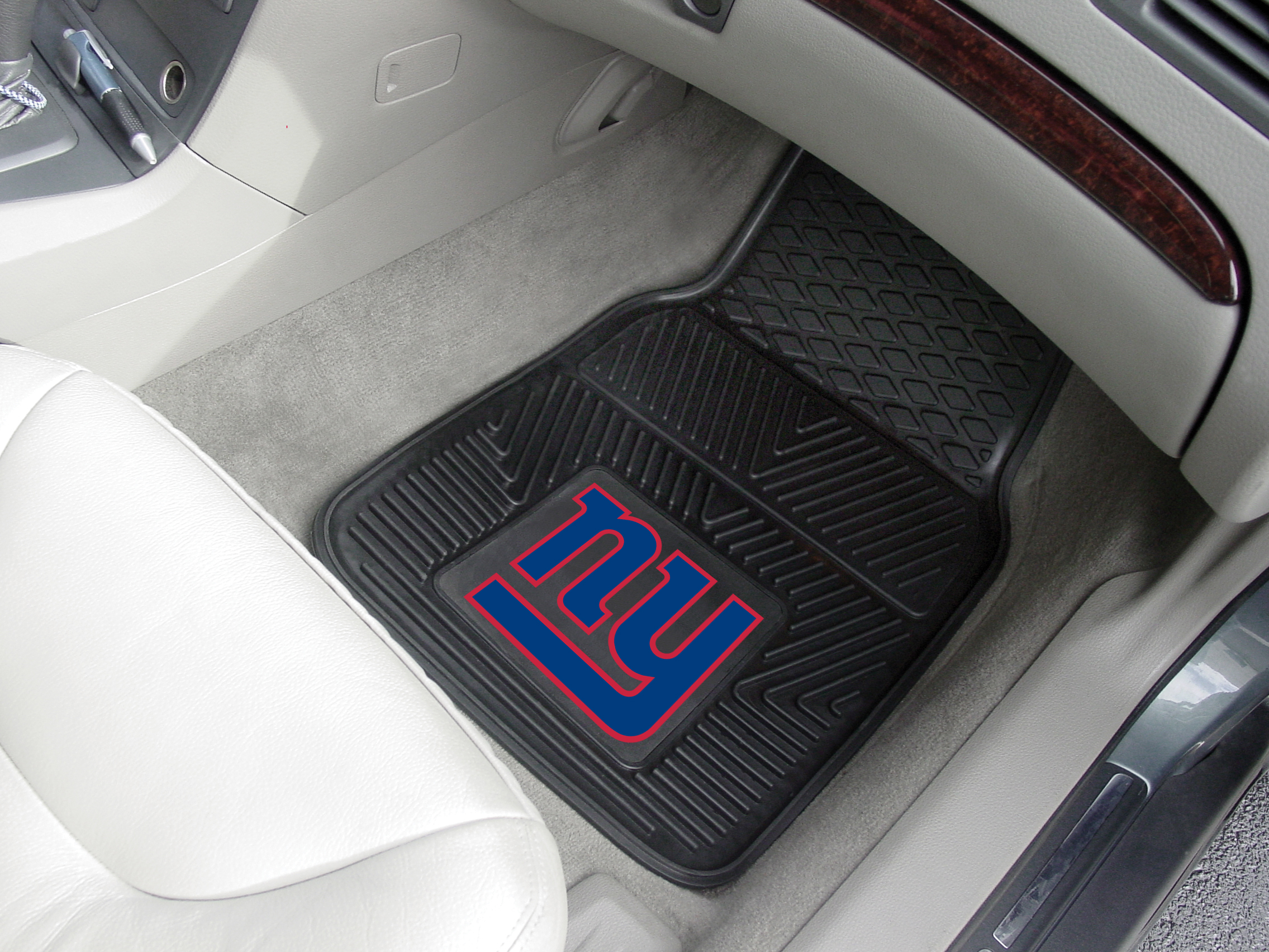 New York Giants NFL Football Logo Car Floor Mats - Heavy-Duty Vinyl