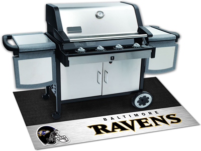 Baltimore Ravens NFL Grill Mat. Protect your deck or patio while also showing off your pride in your favorite football team! NFL - Baltimore Ravnes Grill Floor Mat.