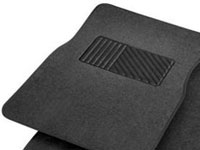 Rubber Queen [7054-1] Carpeted Car Floor Mat - 4-Piece Set - Black