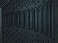 Rubber Queen [7090-1] Rubber Truck Floor Mat - 2-Piece Set - Black