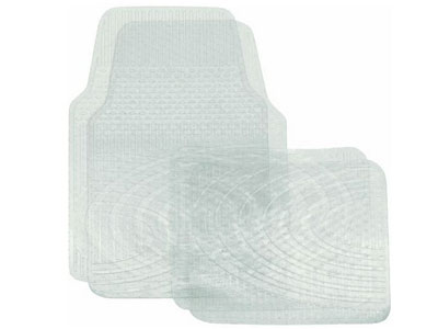 Vinyl Car Floor Mat - 4-Piece Set - Clear