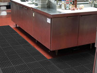 Restaurant & Kitchen Cooking Stations Floor Mats - Entrance Mats, Anti-Fatigue Mats & Carpets