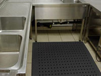 Restaurant & Kitchen Dish Washing & Clean-Up Floor Mats - Entrance Mats, Anti-Fatigue Mats & Carpets