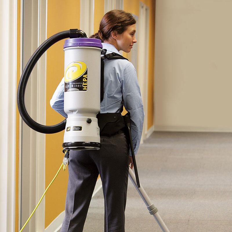 107103 Super Quartervac Hepa Backpack Vacuum 6 Quart