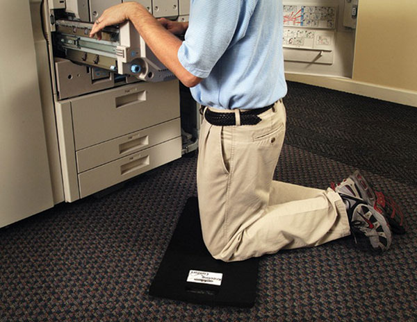 "Kneeling Comfort Portable Anti-Fatigue Knee Cushion Mat - Foam w/ Rubber Backing - (4) 12"" x 22"" x 7/8"" Mats"