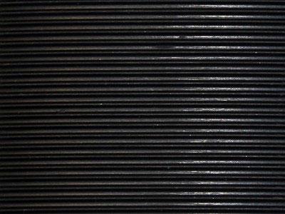 Heavy Duty Corrugated Rubber Fine Rib Runner Matting 1 4