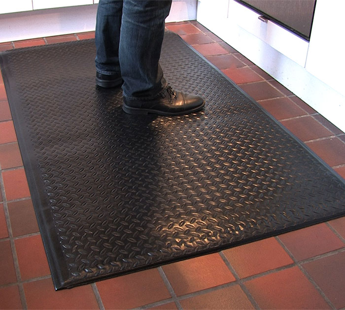 Soft Step Supreme mat provides excellent fatigue relief for workers who stand for long periods of time.
