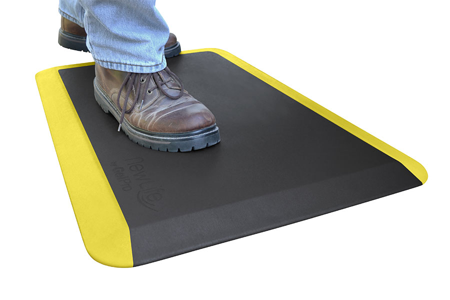 Eco Pro Yellow Safety Stripe Anti Fatigue Mat