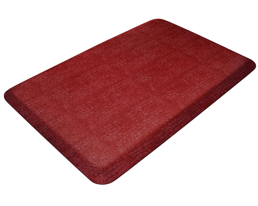 Reduce and prevent discomfort and fatigue when standing on hard floor surfaces when using the Designer Comfort Mat!