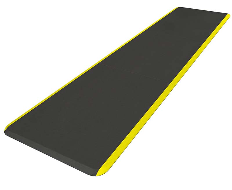 Continuous Comfort Yellow Stripe Anti-Fatigue Mat