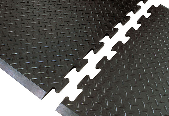 Diamond Top Interlock Safety Anti-Fatigue Mat
