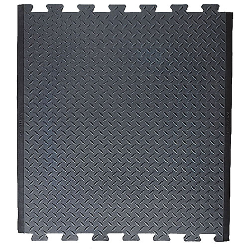 Diamond Top Anti-Fatigue Mat with interlocking teeth on both ends.