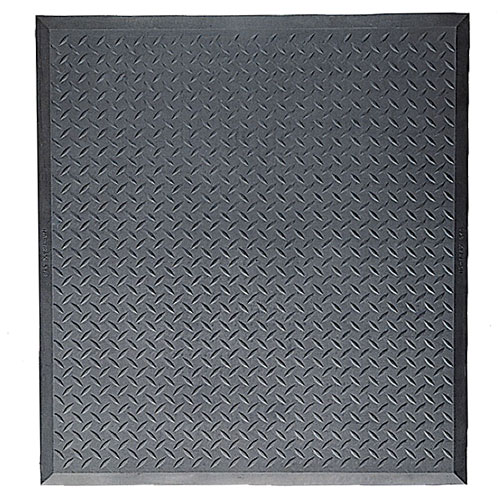 Diamond Top Interlock Stand-Alone Mat with beveled borders on all fours sides.