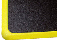 "Ortho Tuff Skin Signature Anti-Fatigue Mat - Yellow Border - 24"" x 36"" PTM-TSSSY"