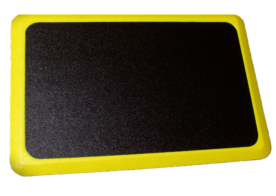 Pro-Tech Ortho Tuff Skin Signature Anti-Fatigue Mat - Yellow Border