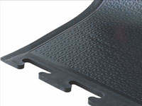 Happy Feet Linkable Anti-Fatigue Mat - Textured, Black Border AM-467B