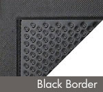 Happy Feet Dry Area Anti-Fatigue Mat - Black w/ Black Border