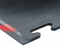 "Happy Feet Wet/Dry Area Anti-Fatigue Mat - Textured - OSHA Border - Linkable - 1/2"" AM-467S"