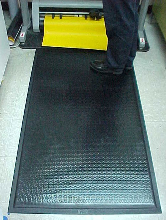 Happy Feet Anti-Fatigue Mat - Black Border, Textured