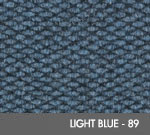 Andersen [2282] Berber Roll Goods Scraper/Wiper Entrance Mat – Light Blue - 89