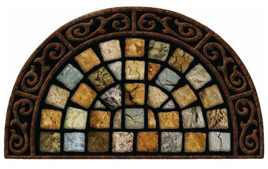 "Masterpiece Roman Road Door Mat - 36"" x 22"""