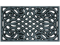 "Wrought Iron Graphite Door Mat - 30"" x 18"" - Black 601395"