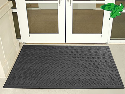 "Andersen [554] Super Scrape ECO Indoor/Outdoor Slip-Resistant Entrance Floor Mat - Black - 3/8"" Thickness"