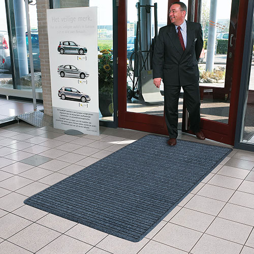 Barrier Rib Scraper Entrance Mat - Rubber Backing