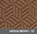 Andersen Legacy Classic Scraper/Wiper Indoor/Outdoor Entrance Floor Mat – Medium Brown - 151