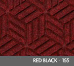Andersen Legacy Classic Scraper/Wiper Indoor/Outdoor Entrance Floor Mat – Red/Black - 155