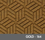 Andersen Legacy Classic Scraper/Wiper Indoor/Outdoor Entrance Floor Mat – Gold - 164