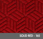 Andersen Legacy Classic Scraper/Wiper Indoor/Outdoor Entrance Floor Mat – Solid Red - 165