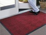 "Andersen [208] WaterHog™ Classic Diamond Indoor/Outdoor Scraper/Wiper Entrance Floor Mat - Rubber Border - 3/8"" Thickness"