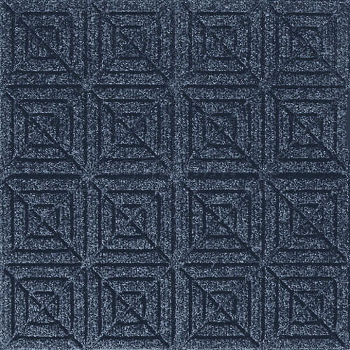 Andersen [221] WaterHog™ Fashion Diamond Indoor/Outdoor Scraper/Wiper Entrance Floor Mat - Navy - 161