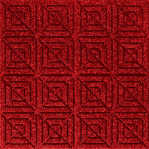 Andersen [221] WaterHog™ Fashion Diamond Indoor/Outdoor Scraper/Wiper Entrance Floor Mat - Solid Red - 165