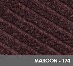 Andersen [2295] WaterHog™ ECO Premier Fashion Indoor Scraper/Wiper Entrance Floor Mat - Maroon - 174