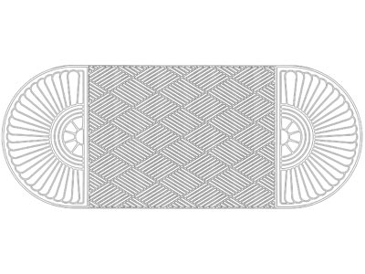 "Andersen [274] WaterHog™ Grand Classic Indoor/Outdoor Scraper/Wiper Entrance Floor Mat - Two Oval Ends - 3/8"" Thickness"
