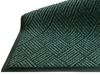 "Andersen [296] WaterHog™ DiamondCord Indoor Scraper/Wiper Entrance Floor Mat - Rubber Border - 1/4"" Thickness"