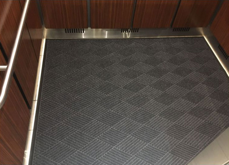 Scraper wiper elevator mat waterhog eco floormatshop for Elevator flooring options
