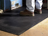 "Andersen [400] Safety Scrape Slip-Resistant Floor Mat - Black - 1/8"" Thickness - AM-400B"