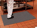 "Andersen [418] Traction Hog Slip-Resistant Floor Mat - Black - Solid - 1/8"" Thickness - AM-418"