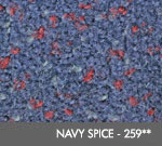 Andersen [125] ColorStar™ Solution Dyed Indoor Wiper/Finishing Floor Mat - Nylon Face - Rubber Backing - Navy Spice - 259**
