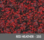 Andersen [125] ColorStar™ Solution Dyed Indoor Wiper/Finishing Floor Mat - Nylon Face - Rubber Backing - Red Heather - 255